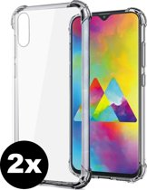 Samsung Galaxy A10 Hoesje Siliconen Case Shock Proef Hoes - 2 PACK