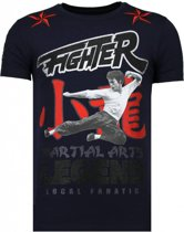 Local Fanatic Fighter Legend - Rhinestone T-shirt - Navy - Maten: L