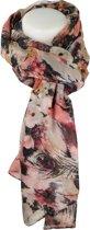 sjaal oud roze - zwart