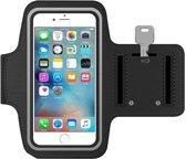 Sport / Hardloop armband voor iPhone 6 / 6S / 7 Zwart, Spatwatervrij, Ultra Lichtgewicht, Top Kwaliteit, Neopreen, Comfortabele Rekband, Klittenband, Reflecterend, Verstelbaar, Ideale Pasvorm, Koptelefoon Aansluitruimte en Sleutelhouder!
