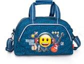 Emoji - Sporttas - Rockstar - Blauw - 45 cm