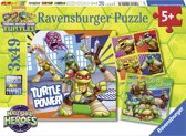 Ravensburger Teenage Mutant Ninja Turtles Half Shell Heroes Drie puzzels van 49 stukjes