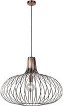 Lucide MANUELA - Hanglamp - Ø 65 cm - E27 - Koper