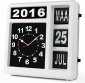 Dementie -alzheimer Flipover wandklok met kalender -Nederlands