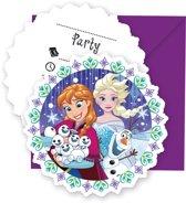 Frozen Snowflakes Uitnodigingen - 6 stuks