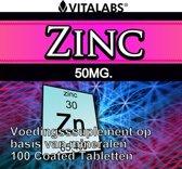 VitaTabs Zink - 50 mg - 100 tabletten - Mineralen