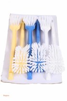 Afwasborstel plastic recht nylon vulling 6 st op kaart