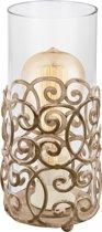 EGLO Vintage - Tafellamp - 1 Lichts - Ø120mm. - Patina Bruin - Helder Glas