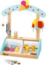 howa Houten Speelgoedwinkeltje icekraam met accessoires en spelgeld 4861