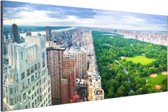 Trump Tower en Central Park Aluminium 90x60 cm - Foto print op Aluminium (metaal wanddecoratie)