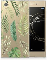 Sony Xperia XA1 Plus Uniek TPU Hoesje Leaves