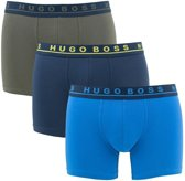 Hugo Boss - Heren 3-Pack Jersey Brief Boxershorts Blauw Legergroen - L