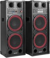 "Actieve speakerset - Fenton SPB-210 - 1200W actieve speakerset 2x 10"" met o.a. Bluetooth -"