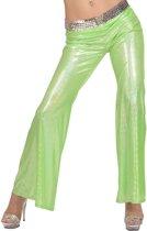 Groene glitter disco broek voor vrouwen - Volwassenen kostuums