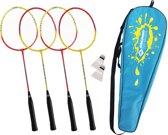 Schildkröt Fun Sports - Hoge kwaliteit Badmintonset voor 4 Spelers