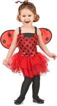 Lieveheersbeestje outfit met vleugels voor meisjes - Verkleedkleding