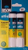 Bison lijmstift - zonder oplosmiddel - 2 stuks - 21 gram elk