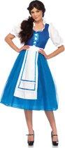 Storybook Village Beauty kostuum - S - Blauw, Wit - Leg Avenue