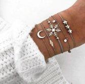 Set armbanden -  5 delig - Winter/Ster