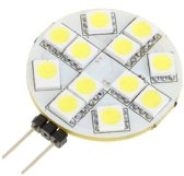 New G4 2.5W 50-Lumen 6500K 12x5050 SMD LED White Light Bulb (12V)