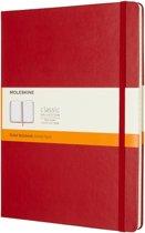 Moleskine Classic Notitieboek Hard Cover - XL - Rood - Lijnen