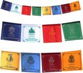 Tibetaanse gebedsvlag Acht Voorspoed Symbolen - 25x21x205 cm - S