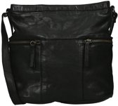 Bear Design - Chessi - leren schoudertas - zwart