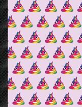 My Super Cute Purple Rainbow Poop Emoji 2x2 Quad Graph Paper Notebook
