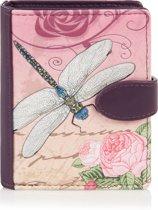 Shagwear Portemonnee - Compact Beugelportemonnee - Dames - Kunstleer - Vintage Dragonfly (009724sm)
