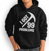 Hoodie sweater | Game | I got 99 problems | maat XL