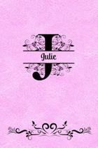 Split Letter Personalized Name Journal - Julie