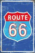 Mini muurplaatje Route 66 15x20cm