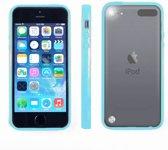Apple iPod Touch 6 Hoesje Bumper case met achterkant Licht Blauw