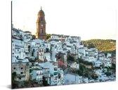 Montoro op heuvel in Cordoba in het Spaanse Andalusië Aluminium 80x60 cm - Foto print op Aluminium (metaal wanddecoratie)