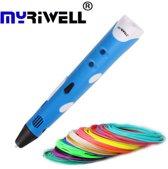 MyRiwell RP100A 3D Pen - 100m filament - Drawing pad - Blauw