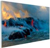Lava in Oceanie  Glas 120x80 cm - Foto print op Glas (Plexiglas wanddecoratie)