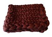 Wollen deken KOPER / woondeken / plaid XXL merino wol - 100 x 200 cm - in 44 kleuren verkrijgbaar