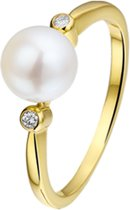 The Jewelry Collection Ring Parel En Diamant 0.04 Ct. - Geelgoud