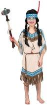 Indiaan Kostuum | Daverende Donderwolk Indiaan | Meisje | Maat 164 | Carnaval kostuum | Verkleedkleding