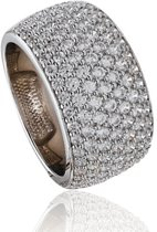 Classics&More - Zilveren ring met steen Gerodineerd met zirkonia