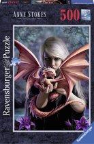 Ravensburger puzzel Drakenmeisje - Legpuzzel - 500 stukjes