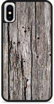 iPhone X Hardcase hoesje Oud hout