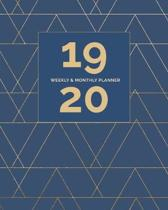 2019 - 2020 Planner Weekly and Monthly: Calendar View + Academic Year + Notes Pages - Undated Agenda Organizer 8''x10'' (Soft Cover)