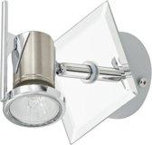 EGLO Tamara Plafond/Wandspot - 1 Lichts - Nikkel-Mat, Chroom