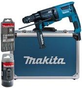 Makita HR2631FT13 Combihamer verwisselbare Boorkop + Boorset