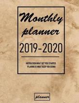 Monthly Planner 2019 - 2020