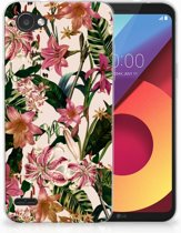 LG Q6   LG Q6 Plus Uniek TPU Hoesje Flowers