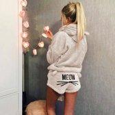 Pyjama voor vrouwen – Katten motief – Beige - Maat M