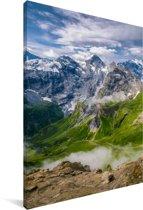 De Zwisterse berg Schilthorn tijdens de zomer Canvas 20x30 cm - klein - Foto print op Canvas schilderij (Wanddecoratie woonkamer / slaapkamer)