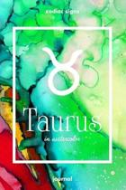 Zodiac signs TAURUS in watercolor Journal: Blank bullet journal with a colorful watercolor cover and a zodiac sign. Have your celestial star constella